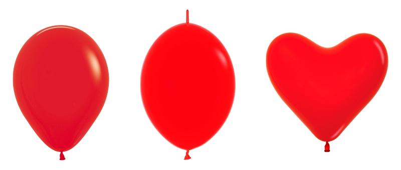Виды оформительских шаров: шар круглой формы, Link-O-Loon, сердце