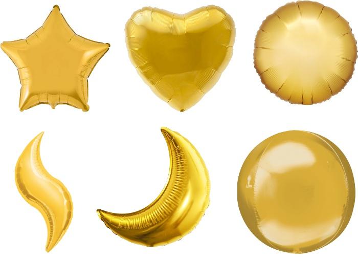 Виды фольгированных шаров