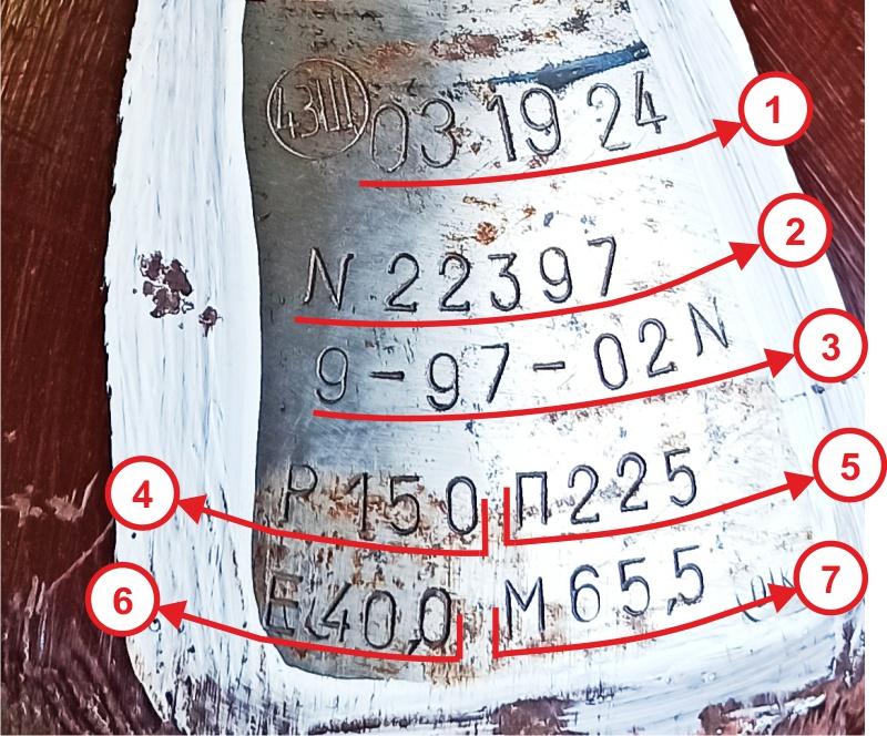 Расшифровка клейм на баллоне