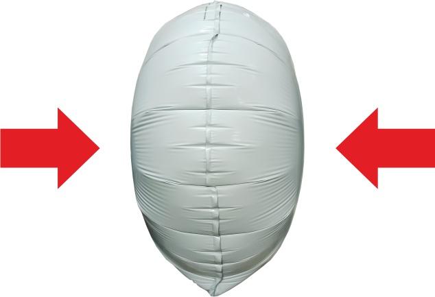 Сжатие центральной части шара