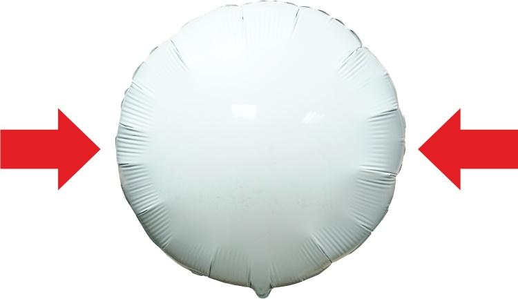 Сжатие шара с боков