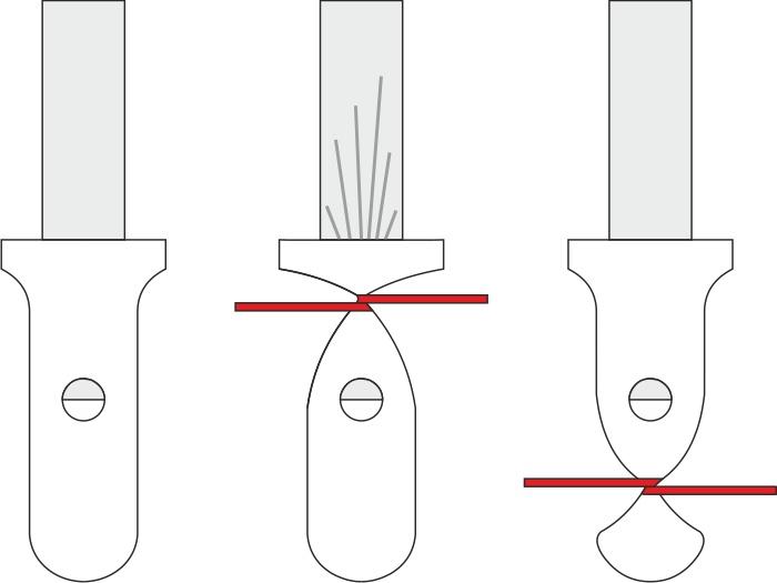 Состояние обратного клапана шара при различных вариантах привязывания