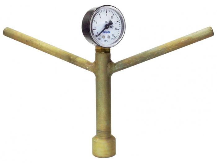 Манометр для проверки давления в баллоне